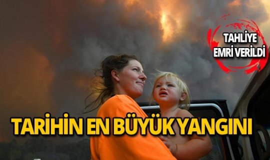 O ülke tarihinin en büyük yangınını yaşıyor!