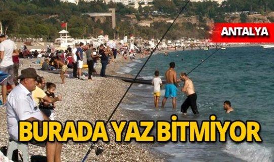 Rekor kıran Antalya'da yazdan kalma günler yaşanıyor!