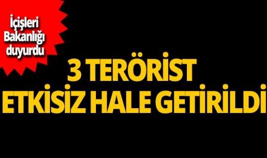 Sivilleri öldüren 3 terörist etkisiz hale getirildi!