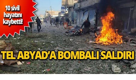Tel Abyad'da pazar yerine bombalı saldırı!