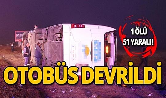 Yolcu otobüsü şarampole yuvarlandı: 1 ölü, 51 yaralı!