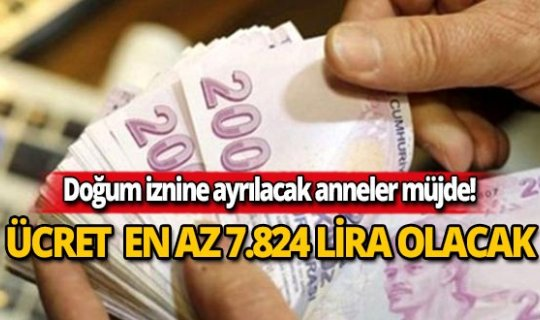2020'de doğum izni parası en az 7 bin 824 lira olacak