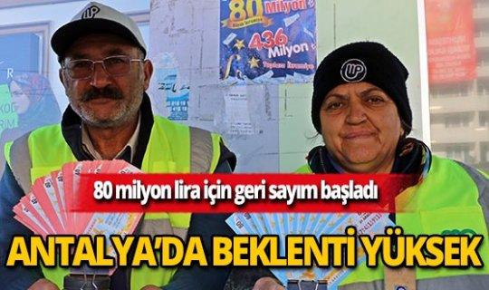 80 milyon lira için geri sayım başladı! Antalya'nın beklentisi yüksek