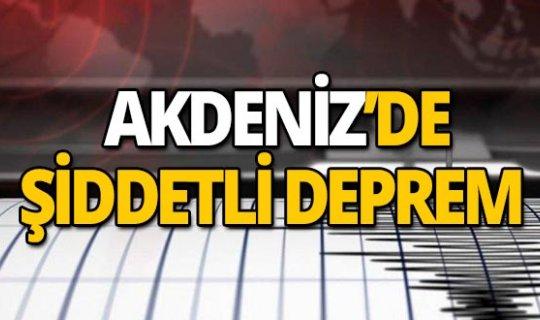Akdeniz'de art arda depremler!