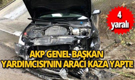 AKP Genel Başkan Yardımcısı Mahir Ünal'ın aracı kaza yaptı!