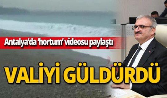 'Antalya'da hortum çıktı' dedi, Valiyi güldürdü!