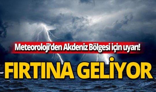 Antalya dikkat! Fırtına geliyor