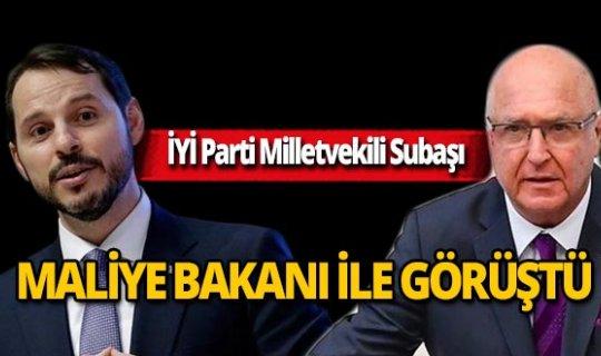 Antalya Milletvekili Subaşı, Maliye Bakanı ile görüştü