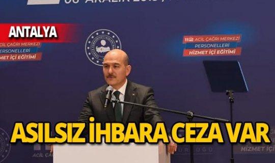 Bakan Soylu net konuştu: Asılsız ihbara ceza var!