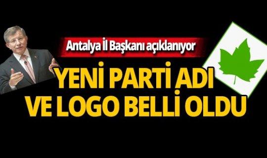 Davutoğlu'nun partisinin ismi ve logosu belli oldu