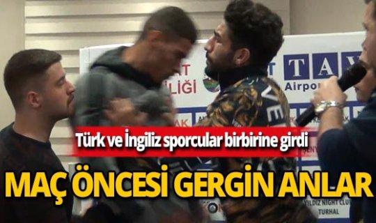 İngiliz ve Türk sporcu arasında gergin anlar