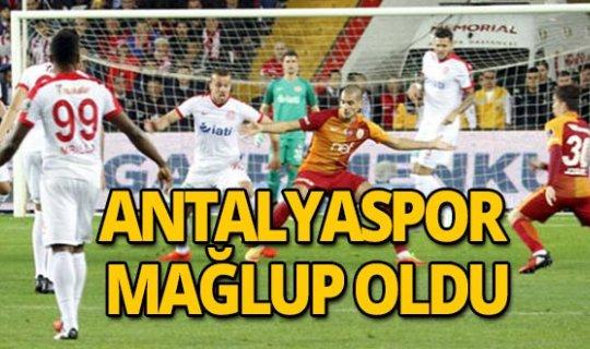 Karşılaşma Antalyaspor'un mağlubiyetiyle sonuçlandı