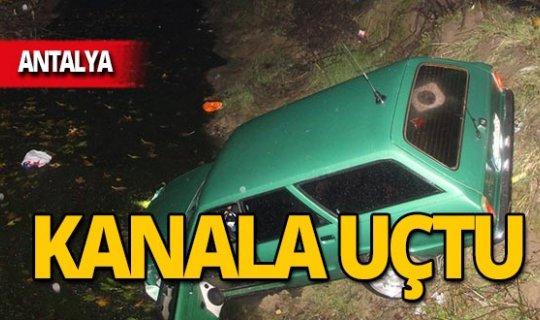 Otomobil kanala uçtu!