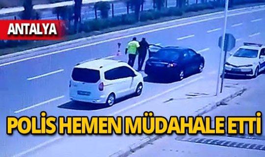 Polis fark etti, hemen müdahale etti!