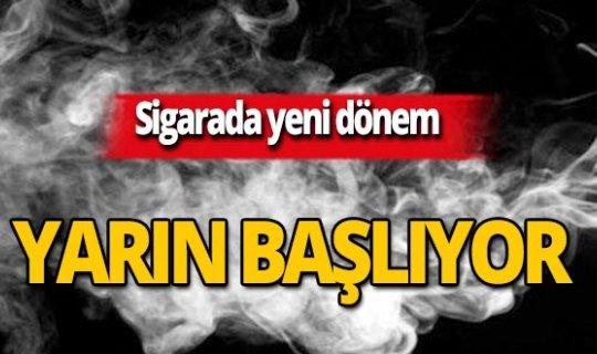 Sigarada yeni dönem!