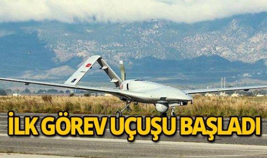 Türkiye'den KKTC'ye inen ilk İHA Doğu Akdeniz'deki görev uçuşuna başladı
