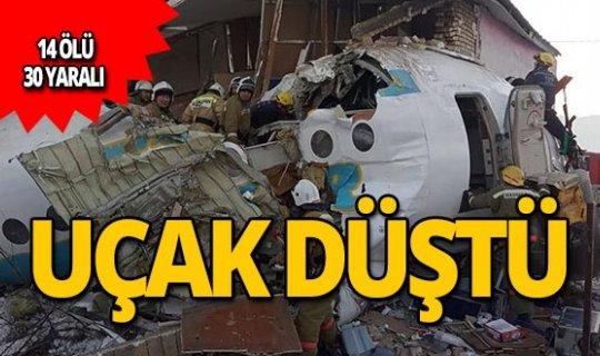 Yolcu uçağı düştü: 14 ölü, 30 yaralı