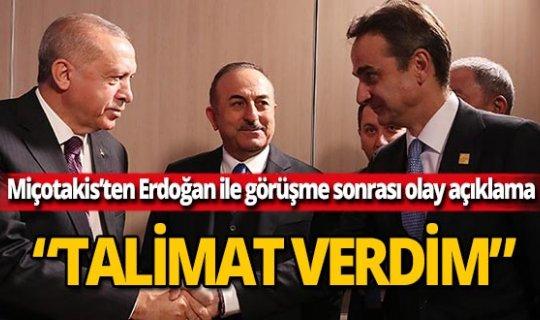 "Yunanistan Başbakanı Miçotakis: ""Talimat verdim"""