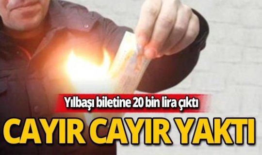 20 bin lira çıkan biletini cayır cayır yaktı