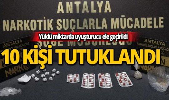 Antalya'da zehir tacirlerine operasyon
