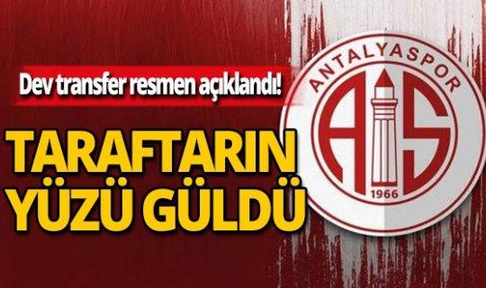 Antalyaspor'da dev transfer resmen açıklandı
