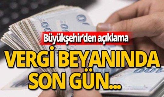 """Büyükşehir'den """"vergi"""" açıklaması"""