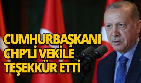 Cumhurbaşkanı Grup toplantısında CHP'li vekile teşekkür etti