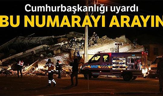 Cumhurbaşkanlığı, deprem yardımları açıklaması yaptı