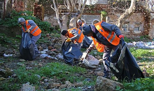 Kaleiçi'nde belediye operasyonu