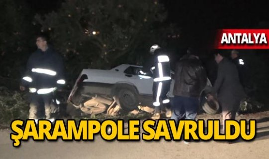 Otomobil şarampole savruldu: 1 ölü 1 yaralı!