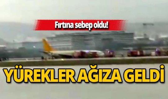Sabiha Gökçen'de yolcu uçağı pistten çıktı