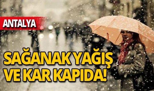 Sağanak yağış ve kar kapıda!