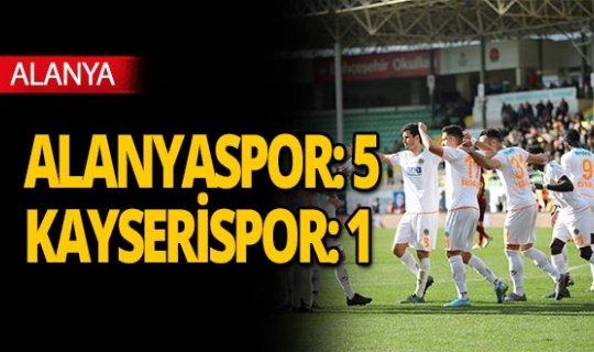 Süper Lig: Aytemiz Alanyaspor: 5 - Kayserispor: 1