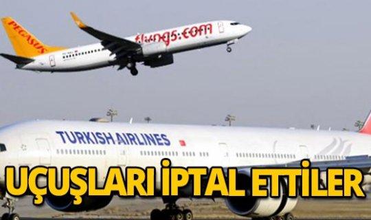 THY ve Pegasus o ülkelere uçuşları durdurdu!