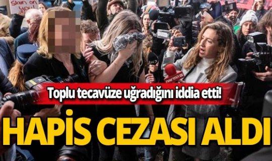 Toplu tecavüze uğradığını iddia eden kadına 4 ay hapis cezası!