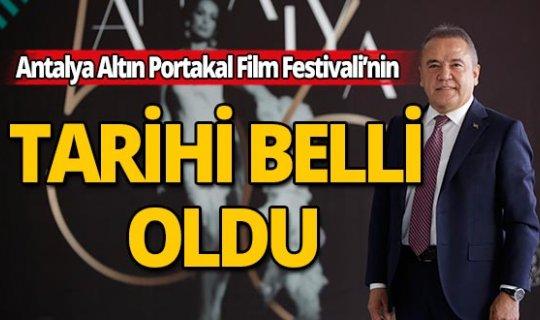 57. Antalya Altın Portakal Film Festivali'nin tarihi belli oldu