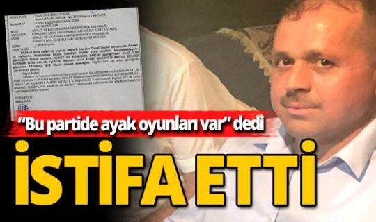 AK Parti'den sürpriz istifa