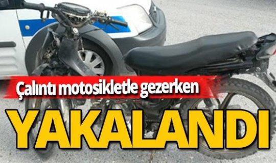 Alanya'da çalıntı motosikletle gezerken yakalandı