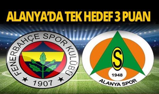 Alanyaspor bu akşam Fenerbahçe'ye konuk oluyor