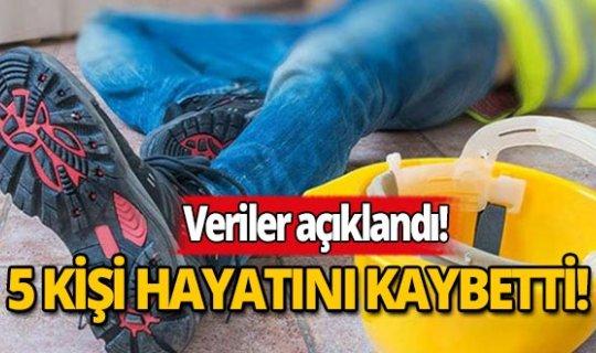 Antalya'da 5 kişi iş kazalarında hayatını kaybetti