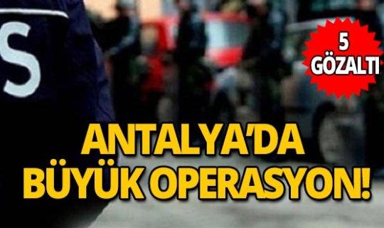 Antalya'da insan kaçakçılığı operasyonu!
