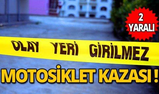 Antalya'da motosiklet kazası: 2 yaralı