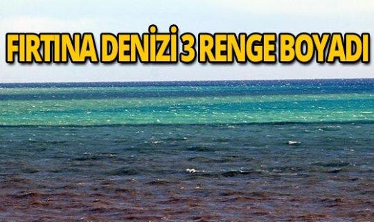 Antalya Körfezi 3 renge büründü