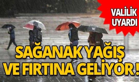 Antalya Valiliği'nden uyarı! Sağanak yağış ve fırtına geliyor