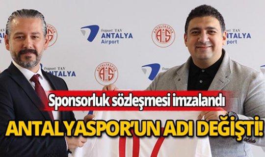 Antalyaspor'a yeni isim sponsoru
