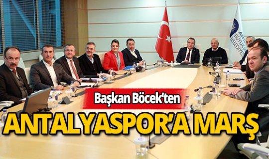 Başkan Böcek'ten Antalyaspor'a anlamlı marş