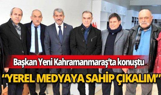 Başkan Yeni'den Kahramanmaraş Büyükşehir Gazeteciler Cemiyeti'ne ziyaret