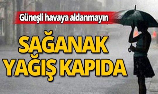 Dikkat: Antalya ve çevresi için 'Sağanak Yağış' uyarısı