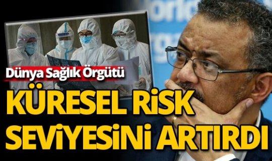 DSÖ yeni tip koronavirüs için küresel risk seviyesini 'çok yüksek'e çıkardı