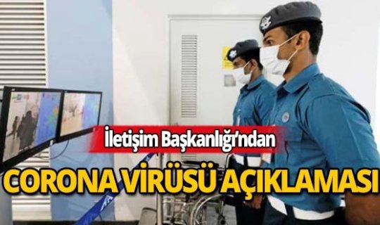 İletişim Başkanlığı'ndan Corona virüsü açıklaması